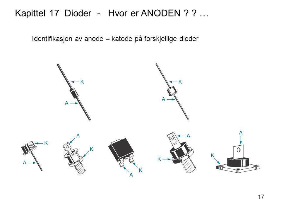Kapittel 17 Dioder - Hvor er ANODEN …