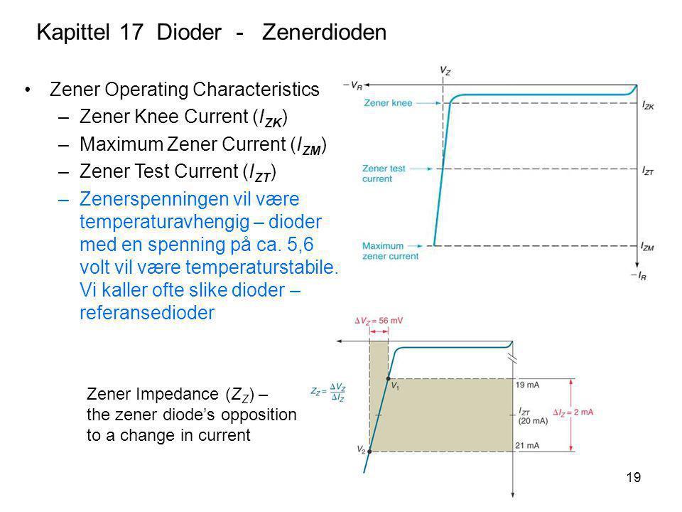 Kapittel 17 Dioder - Zenerdioden
