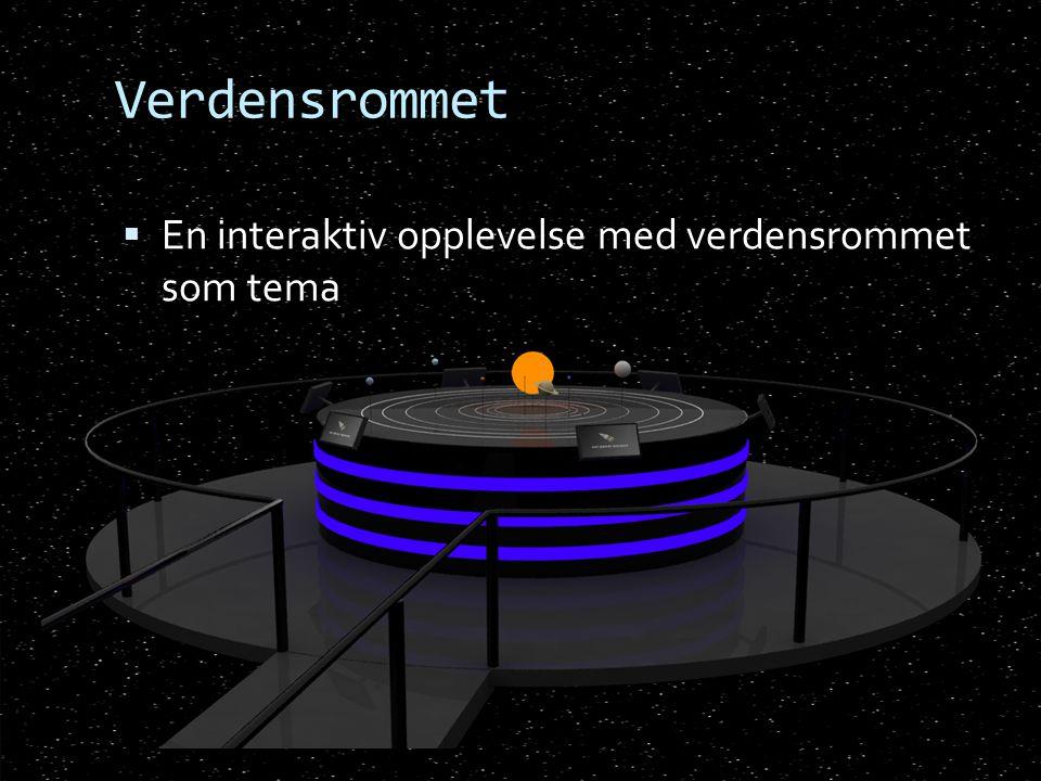 Verdensrommet En interaktiv opplevelse med verdensrommet som tema