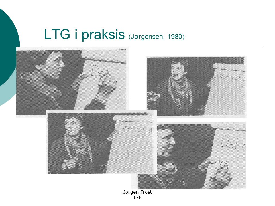 LTG i praksis (Jørgensen, 1980)