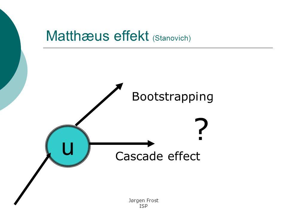 Matthæus effekt (Stanovich)