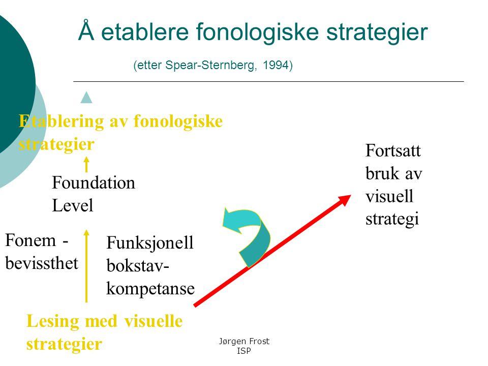 Å etablere fonologiske strategier (etter Spear-Sternberg, 1994)