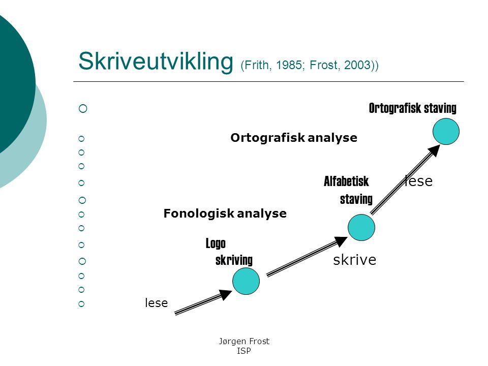 Skriveutvikling (Frith, 1985; Frost, 2003))