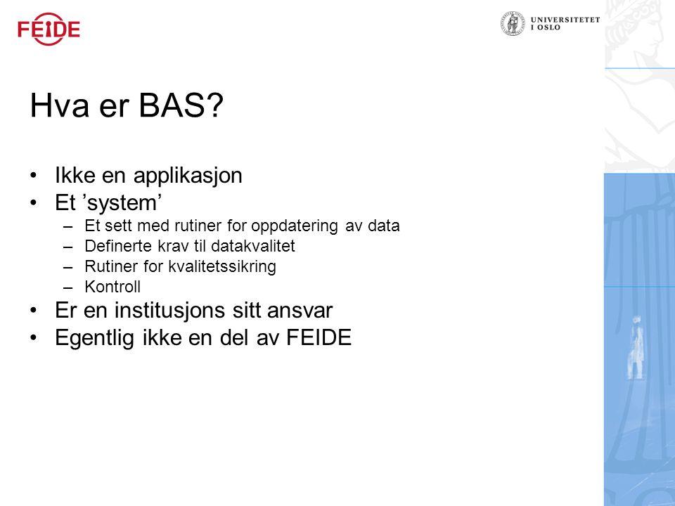 Hva er BAS Ikke en applikasjon Et 'system'