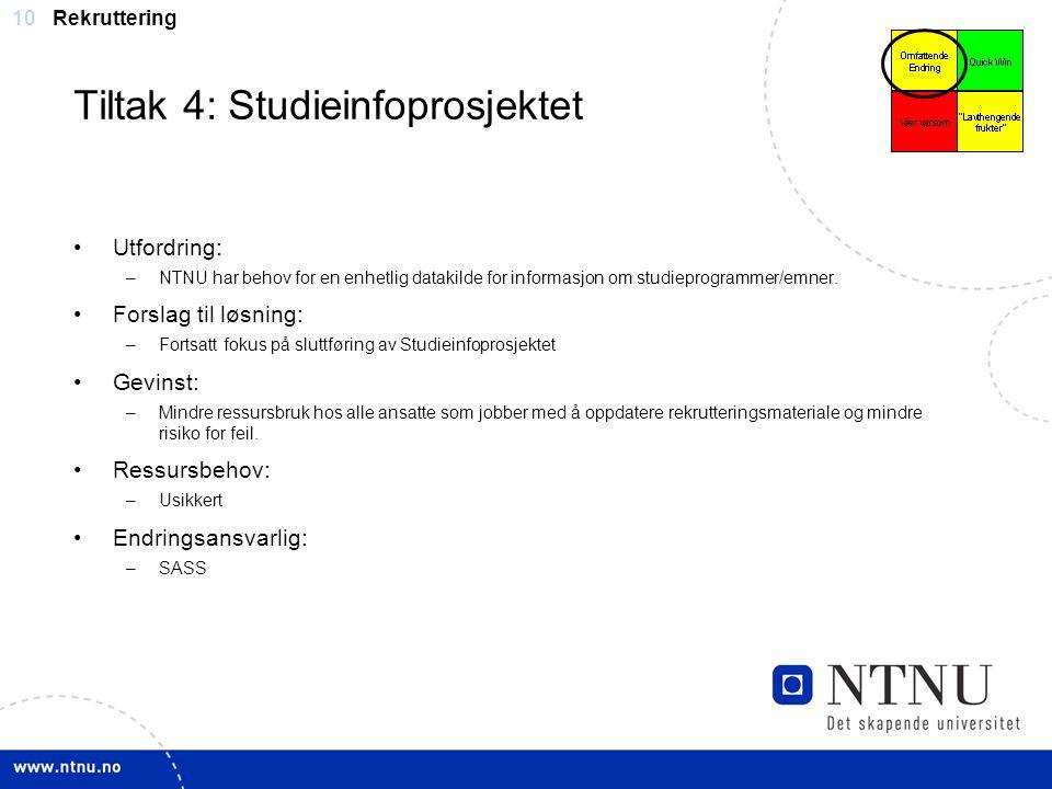 Tiltak 4: Studieinfoprosjektet
