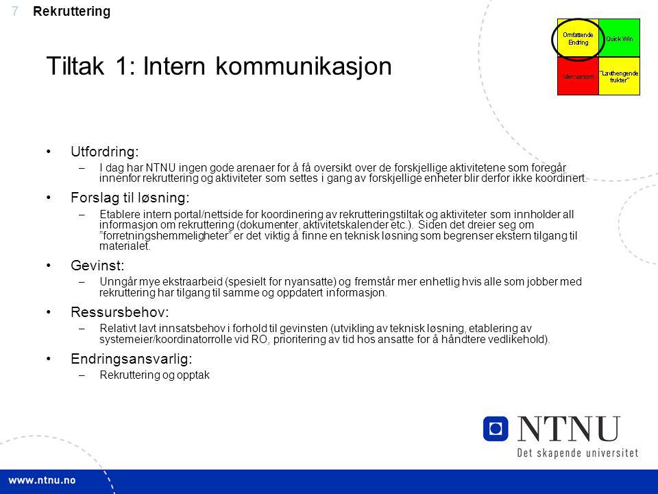 Tiltak 1: Intern kommunikasjon