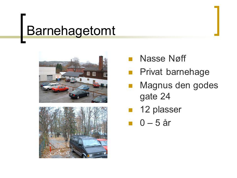 Barnehagetomt Nasse Nøff Privat barnehage Magnus den godes gate 24