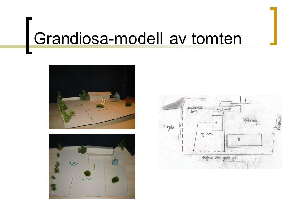 Grandiosa-modell av tomten