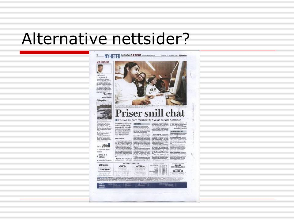 Alternative nettsider