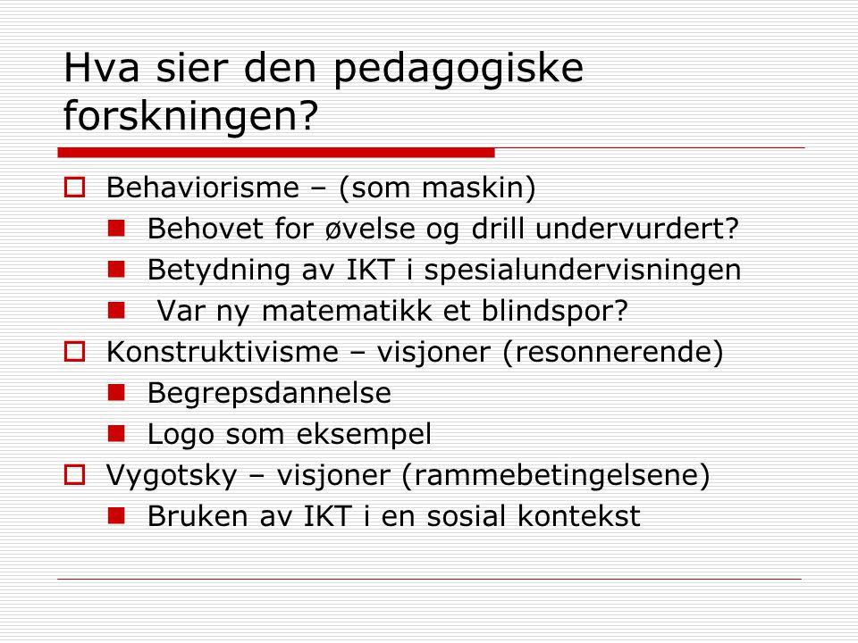 Hva sier den pedagogiske forskningen
