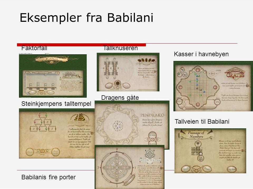 Eksempler fra Babilani