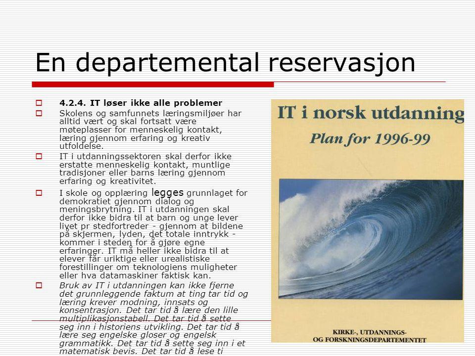 En departemental reservasjon