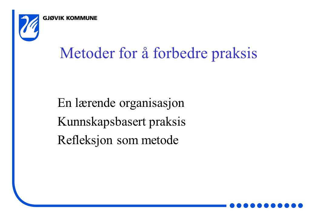 Metoder for å forbedre praksis