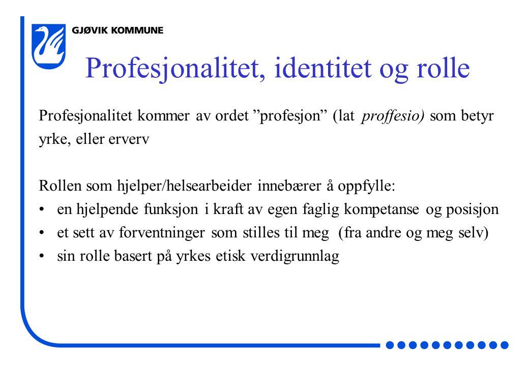 Profesjonalitet, identitet og rolle