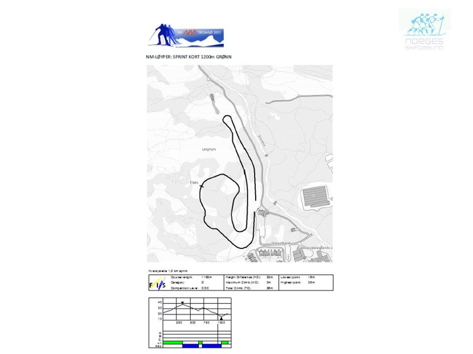 NM –Løyper: Sprint kort 1200m Grønn