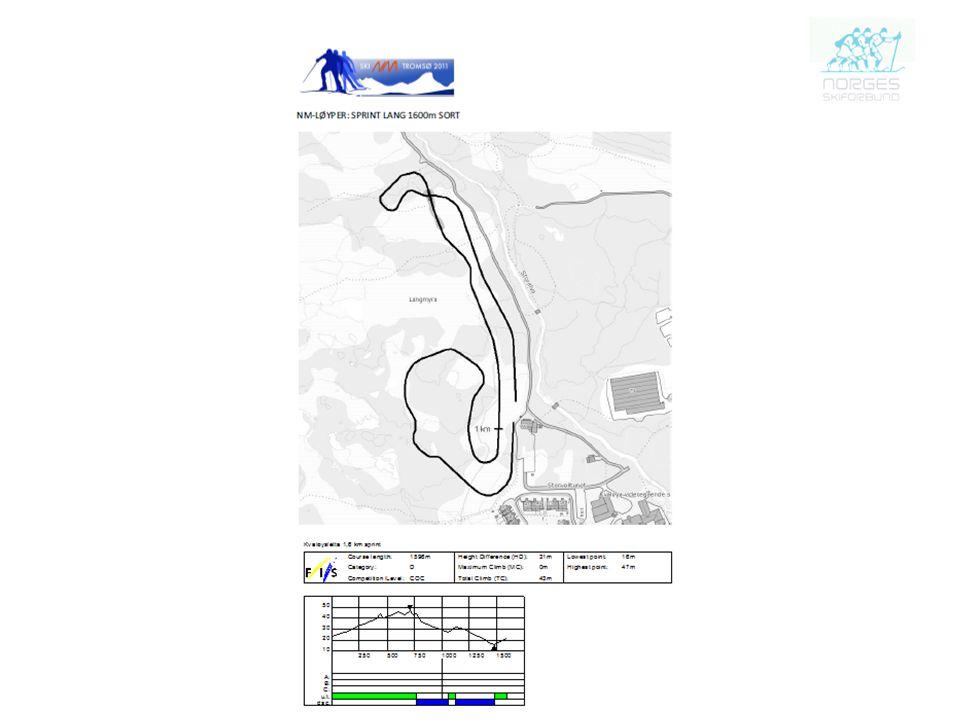 NM –Løyper: Sprint lang 1600m Sort