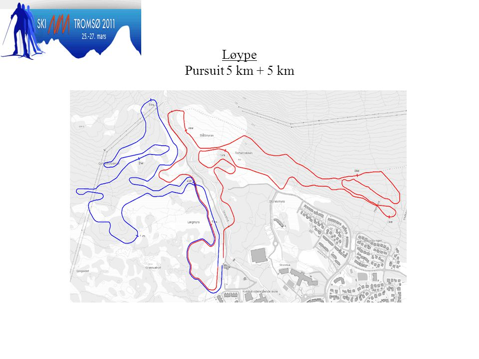 Løype Pursuit 5 km + 5 km