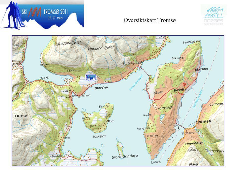 Oversiktskart Tromsø