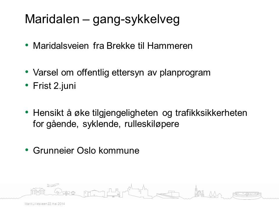 Maridalen – gang-sykkelveg