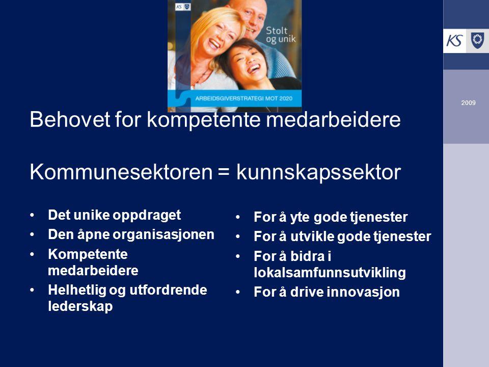 Behovet for kompetente medarbeidere Kommunesektoren = kunnskapssektor