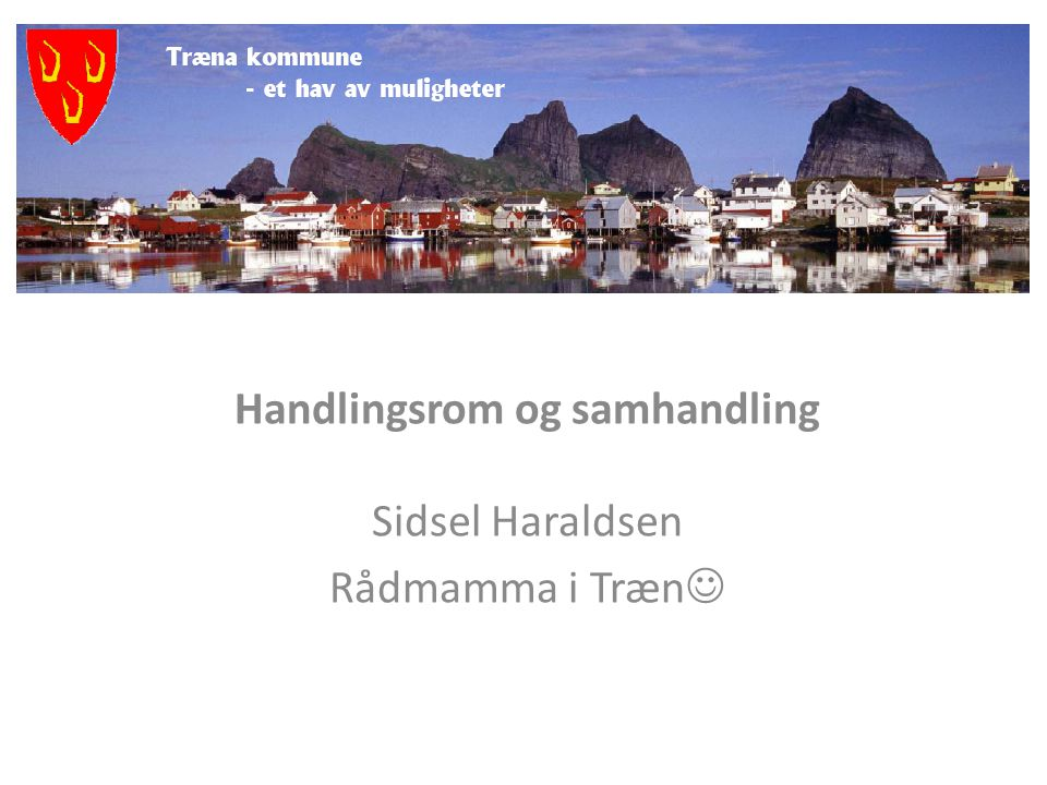 Handlingsrom og samhandling Sidsel Haraldsen Rådmamma i Træn