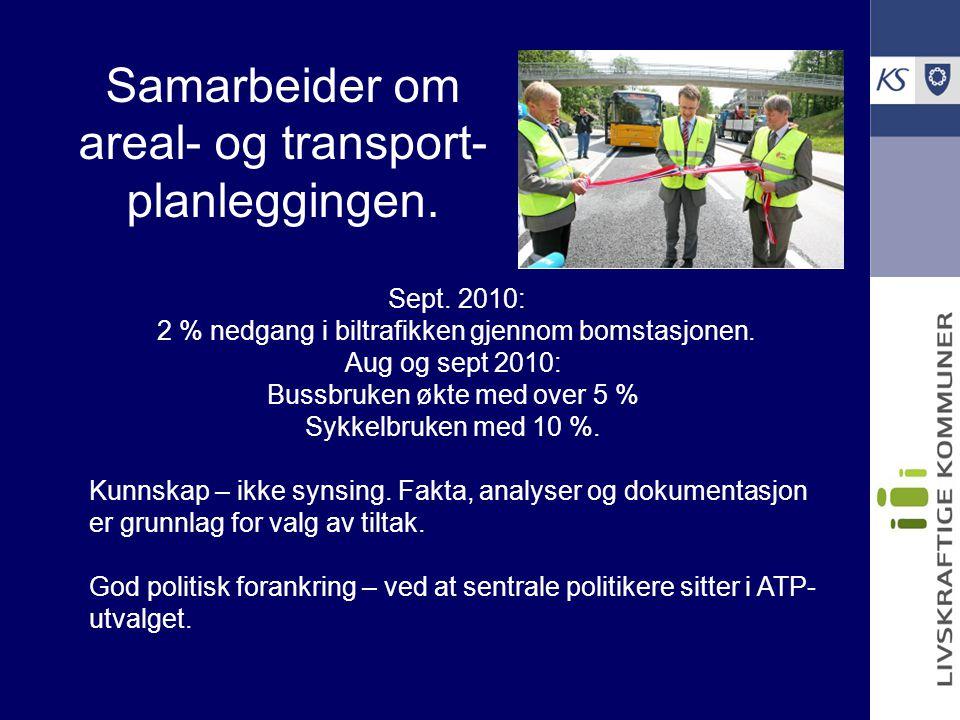 Samarbeider om areal- og transport-planleggingen.