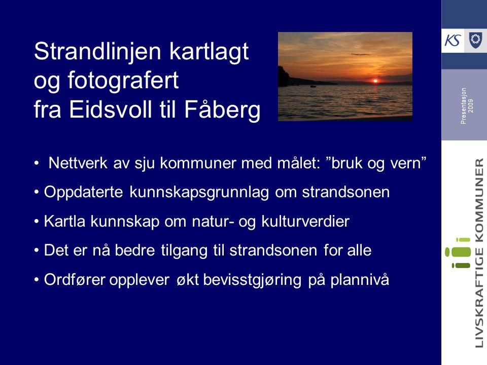 Strandlinjen kartlagt og fotografert fra Eidsvoll til Fåberg