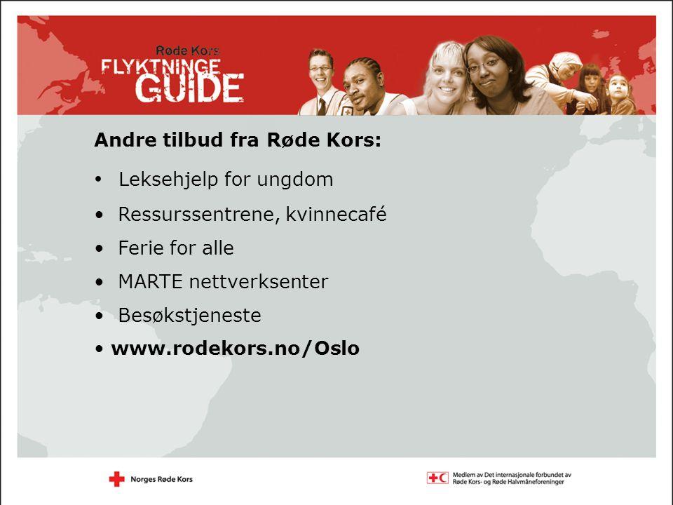 Leksehjelp for ungdom Andre tilbud fra Røde Kors: