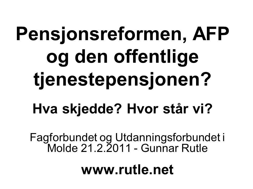 Fagforbundet og Utdanningsforbundet i Molde 21.2.2011 - Gunnar Rutle