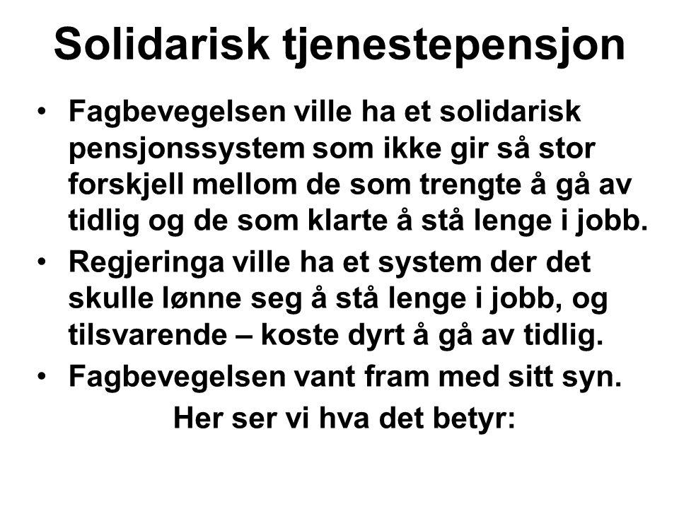 Solidarisk tjenestepensjon