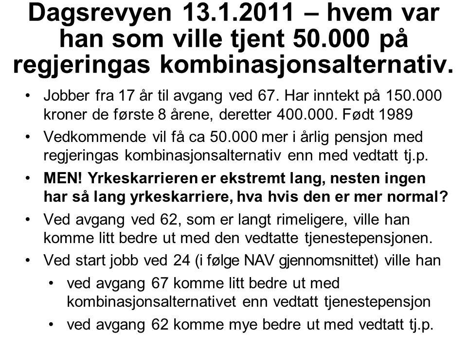 Dagsrevyen 13. 1. 2011 – hvem var han som ville tjent 50