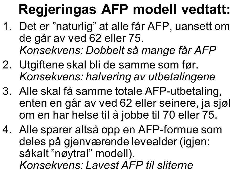 Regjeringas AFP modell vedtatt:
