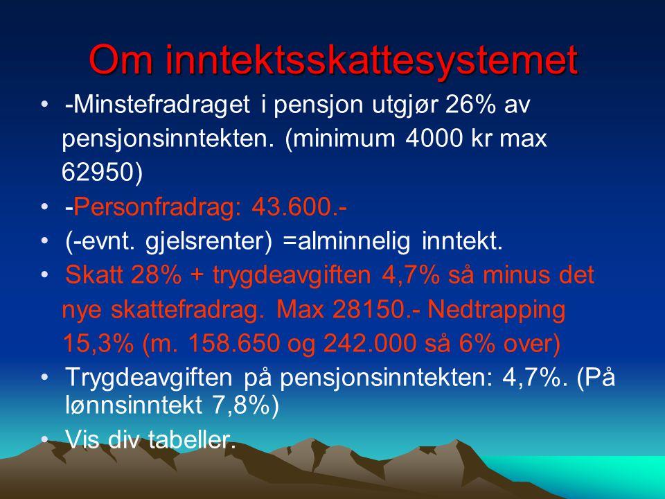 Om inntektsskattesystemet