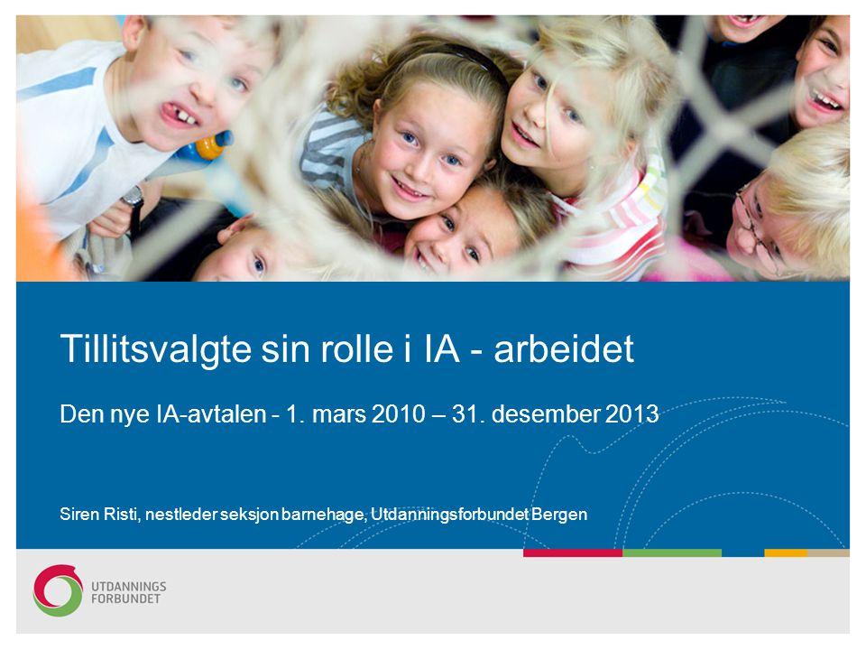 Siren Risti, nestleder seksjon barnehage, Utdanningsforbundet Bergen