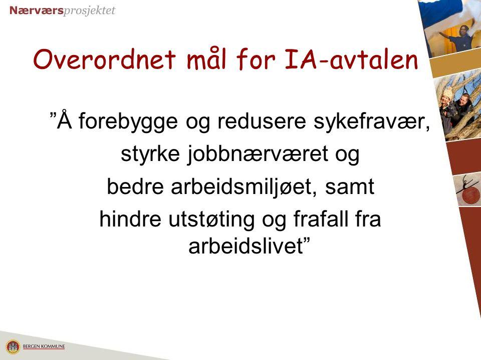 Overordnet mål for IA-avtalen