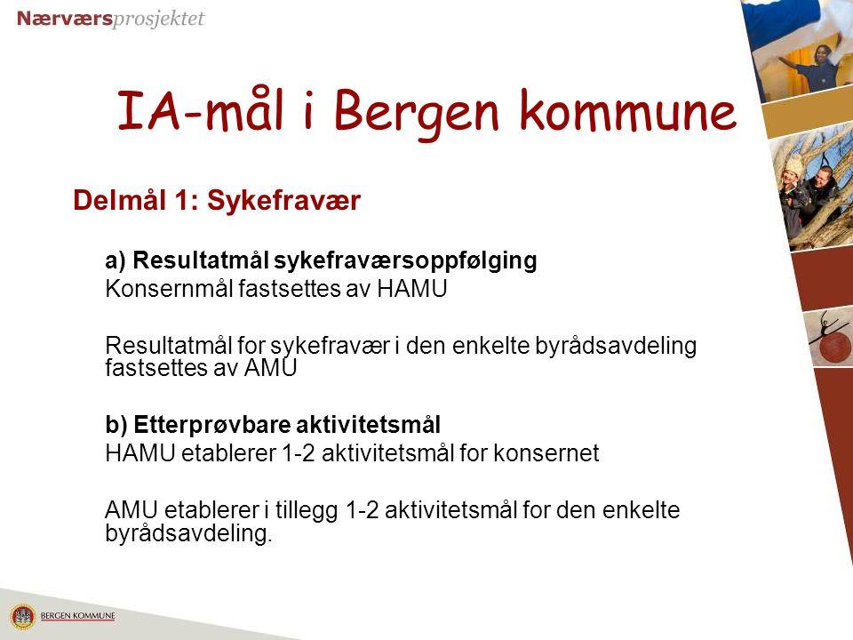 IA-mål i Bergen kommune