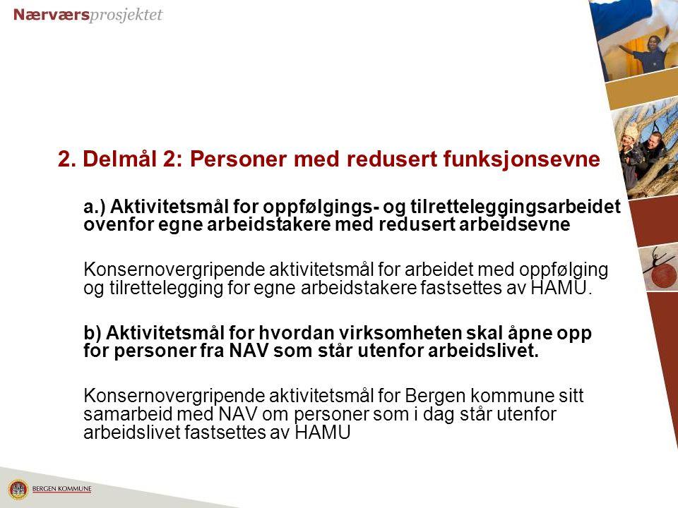 2. Delmål 2: Personer med redusert funksjonsevne