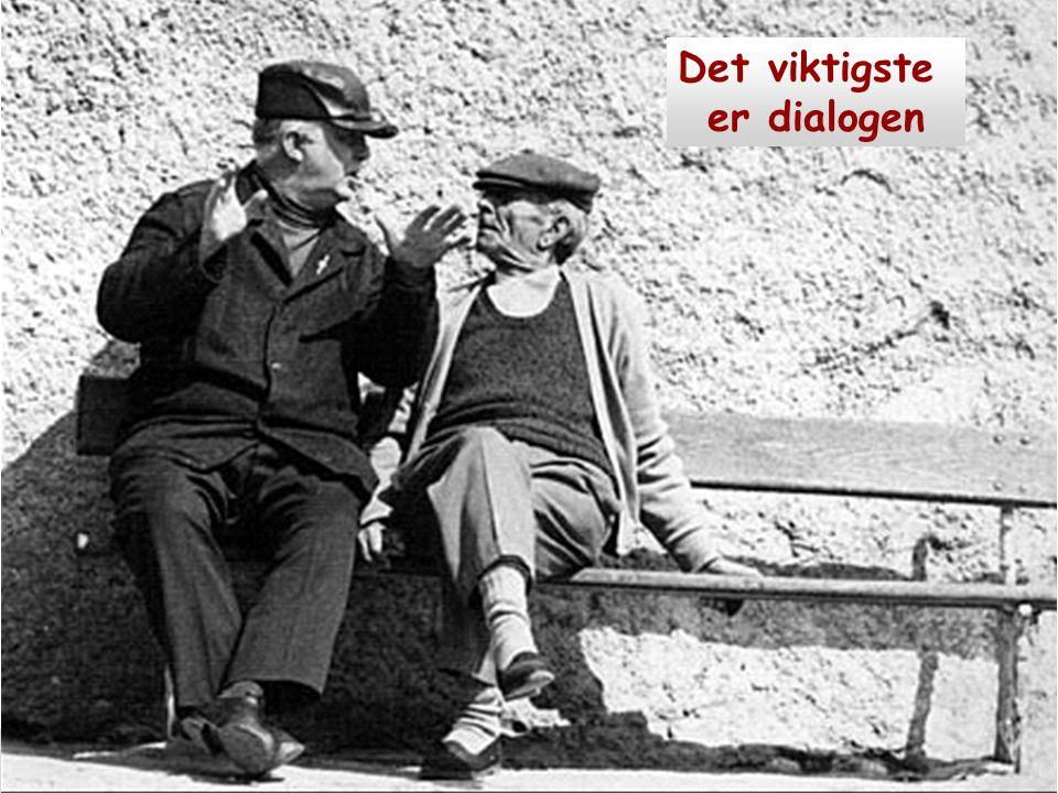 Det viktigste er dialogen