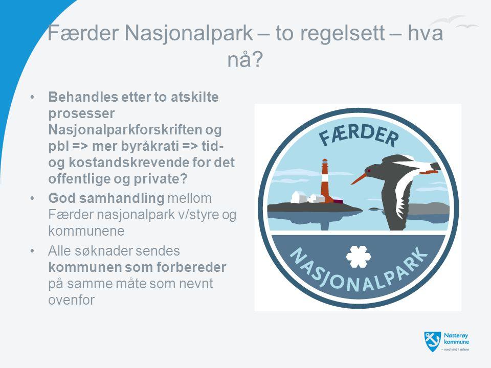 Færder Nasjonalpark – to regelsett – hva nå