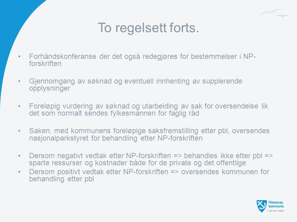 To regelsett forts. Forhåndskonferanse der det også redegjøres for bestemmelser i NP-forskriften.