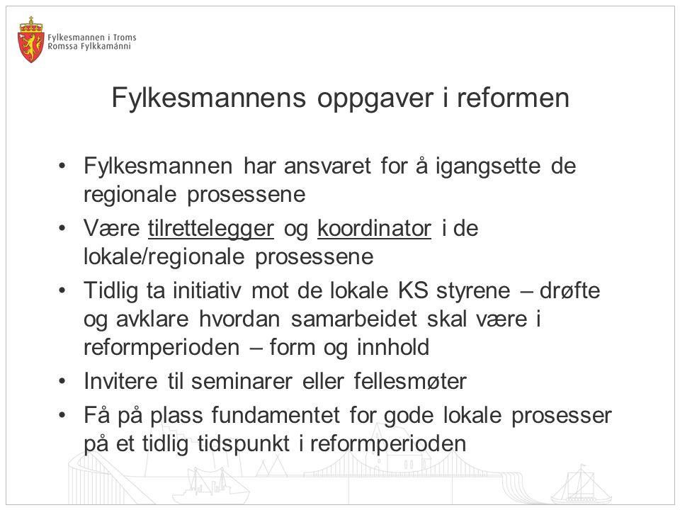 Fylkesmannens oppgaver i reformen