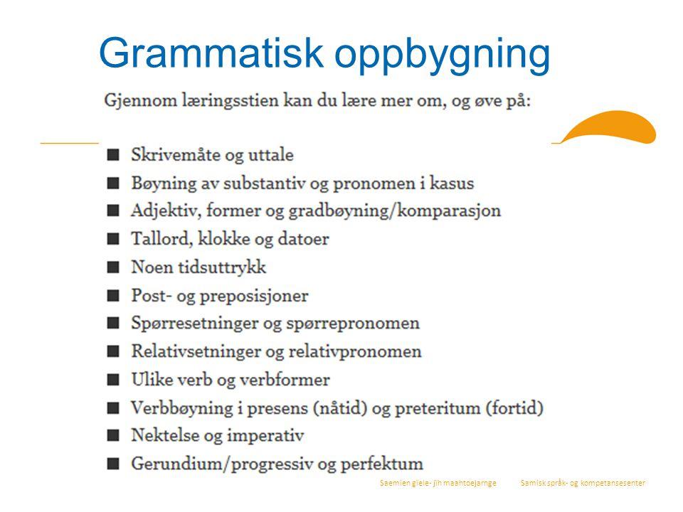 Grammatisk oppbygning