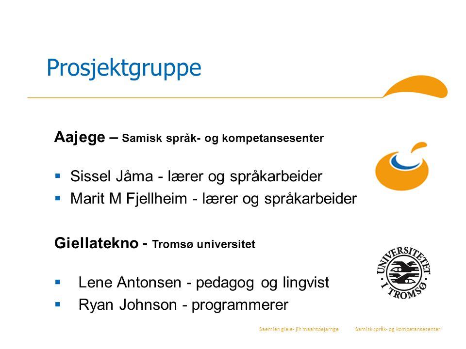 Prosjektgruppe Aajege – Samisk språk- og kompetansesenter