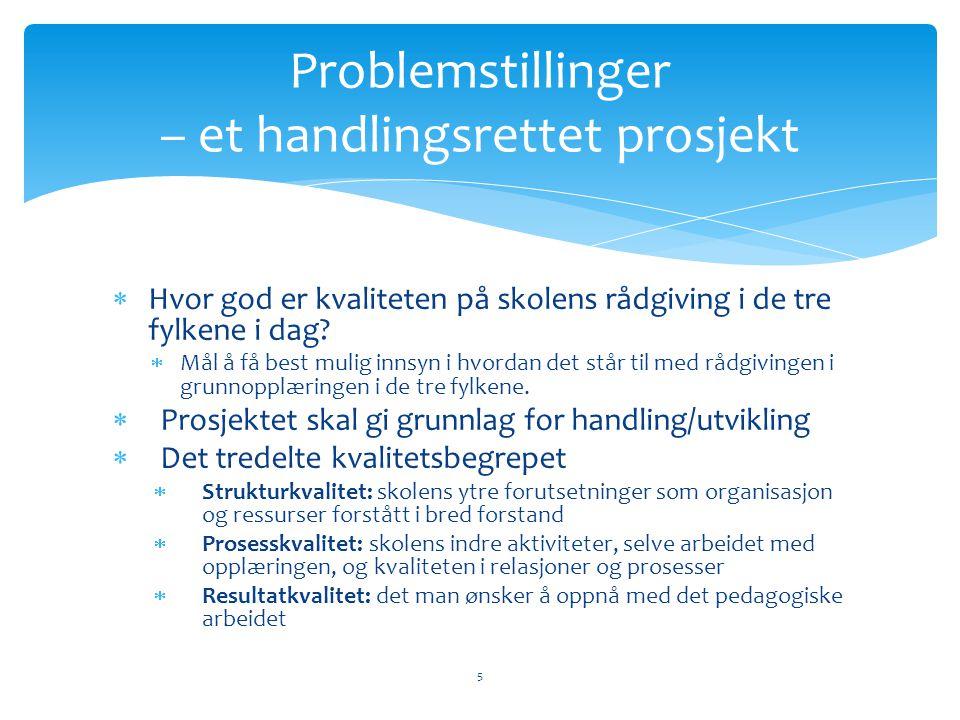 Problemstillinger – et handlingsrettet prosjekt