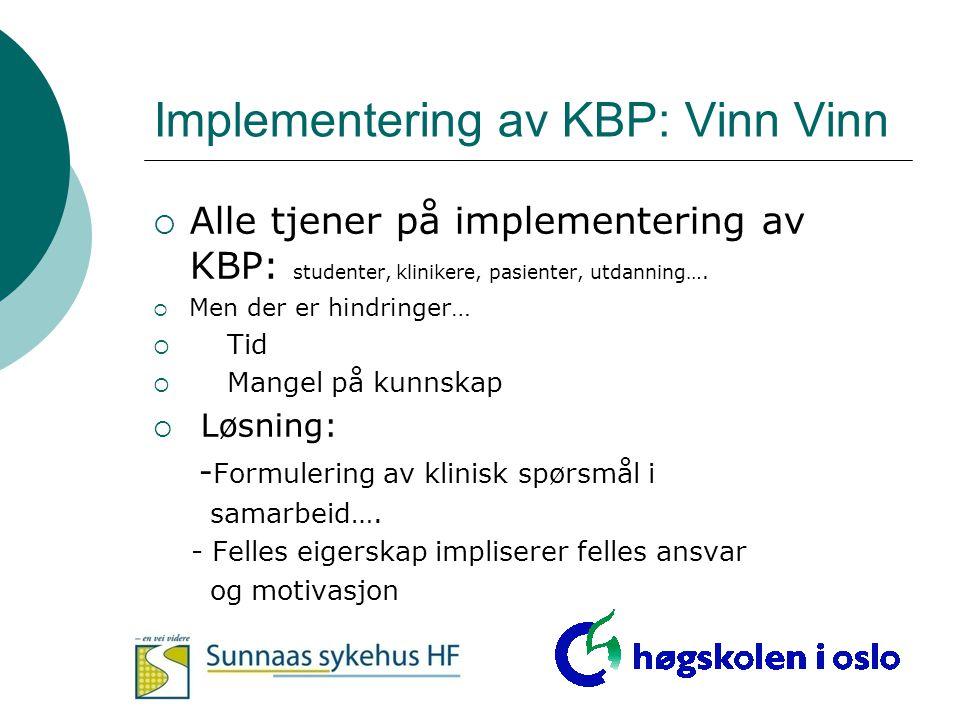 Implementering av KBP: Vinn Vinn