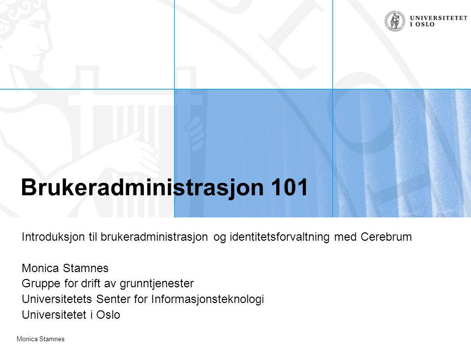Brukeradministrasjon 101