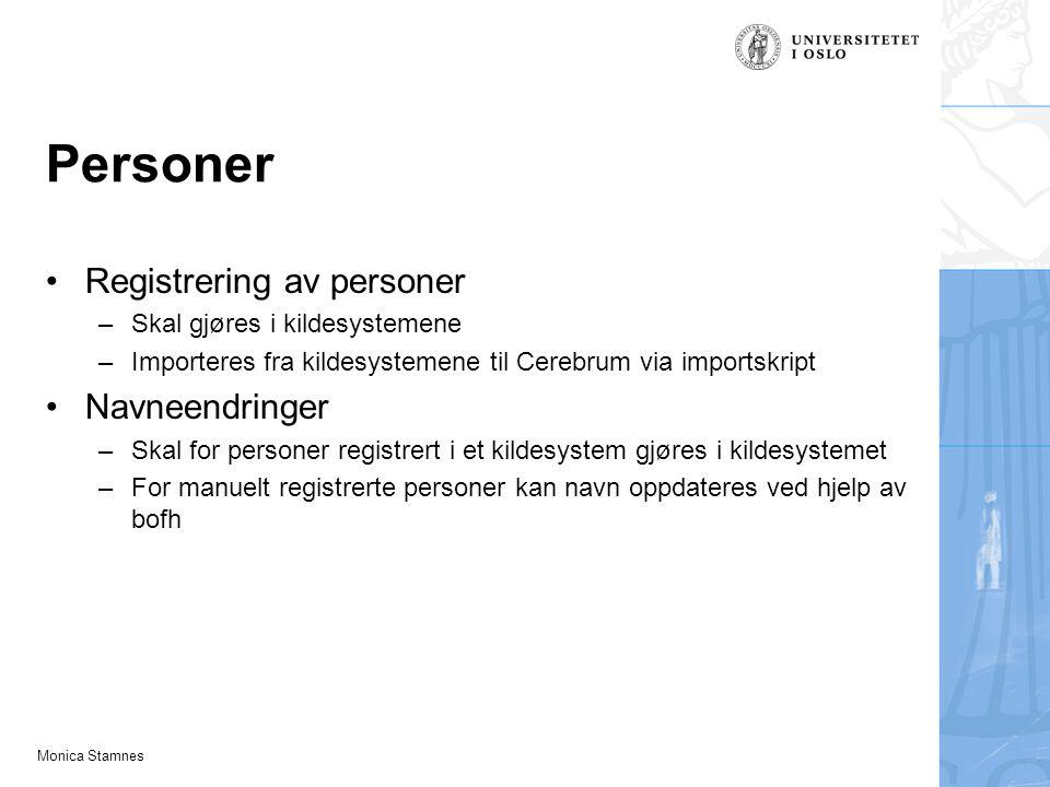 Personer Registrering av personer Navneendringer