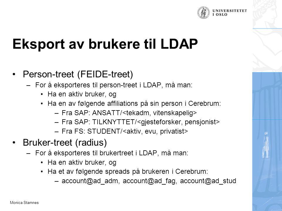 Eksport av brukere til LDAP