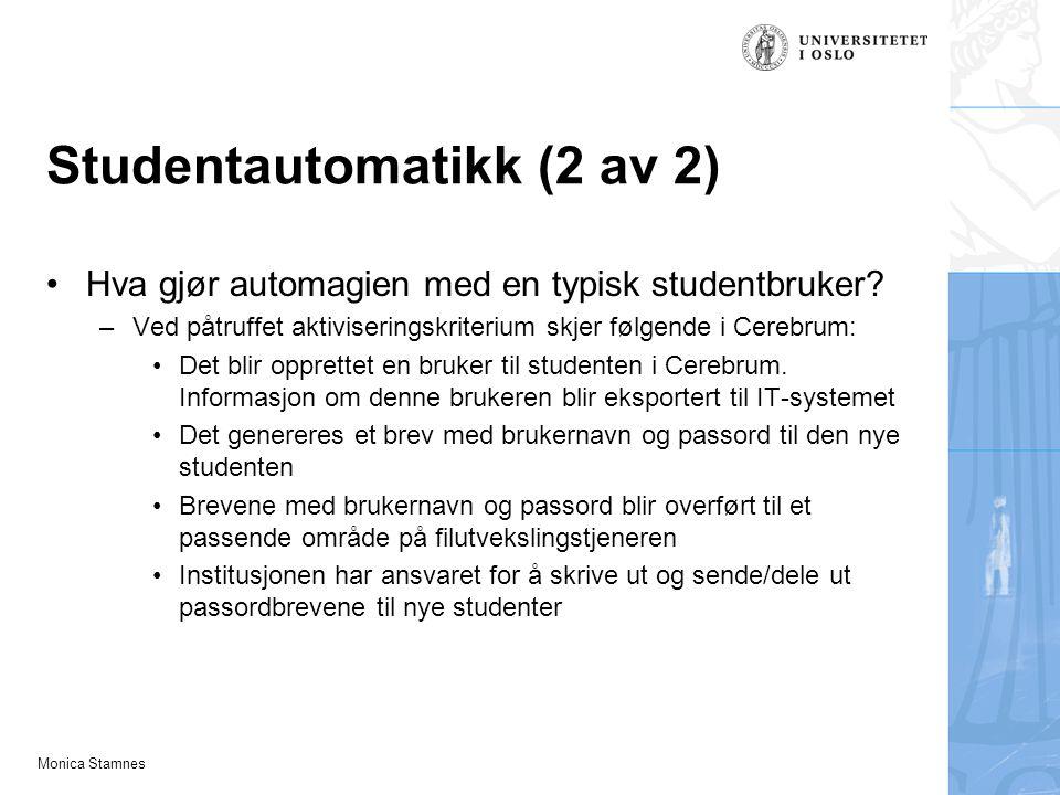 Studentautomatikk (2 av 2)