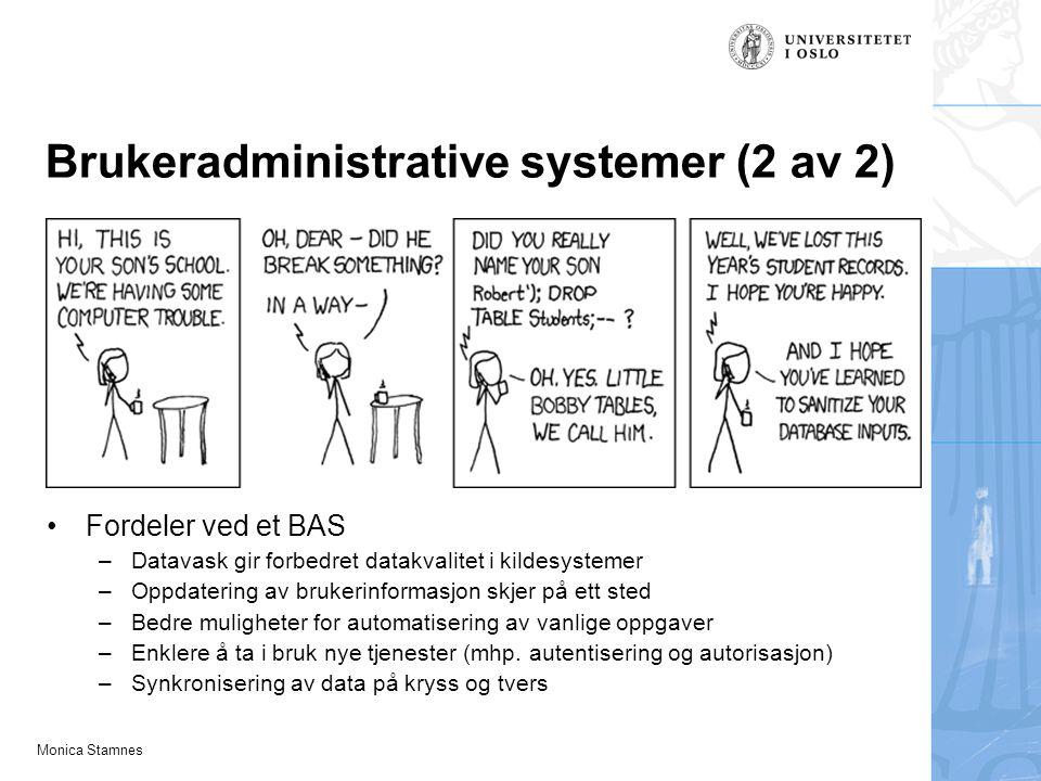 Brukeradministrative systemer (2 av 2)